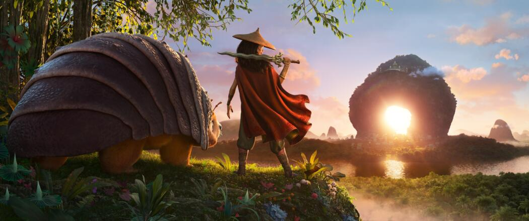RAYA AND THE LAST DRAGON – As an evil force threatens the kingdom of Kumandra, it is up to warrior Raya, and her trusty steed Tuk Tuk, to leave their Heart Lands home and track down the last dragon to help stop the villainous Druun. (Credit: Disney)